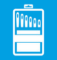 set of needles icon white vector image vector image