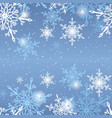 snowflakes on blue background pattern vector image