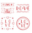 st valentines handmade greeting cards kit vector image vector image