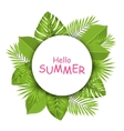 Summer Beautiful Card with Green Tropical Leaves vector image vector image