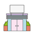 supermarket store to shopping fresh products vector image