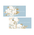 tender orchid flowers pattern for card invitation vector image vector image