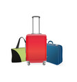to travel with suitcases on a white background vector image