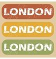 Vintage London stamp set vector image vector image