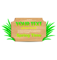 Wooden banner freshness of spring vector image vector image