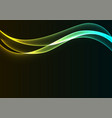 yellow blue flame curve layer abstract background vector image