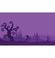 Zombie running halloween with purple backgrounds vector image vector image