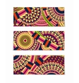Colorful Tribal Ethnic Theme Banner Design vector image