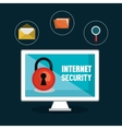 lock internet security file luope design vector image