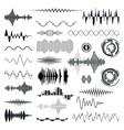 Seamless Sound Waves Set Audio equalizer vector image