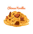 chinese noodles ramen food asian noodle vector image
