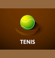 tennis isometric icon isolated on color vector image
