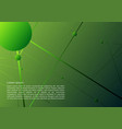 abstract background with green dots and lines vector image vector image