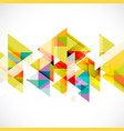 abstract triangle modern template for business vector image