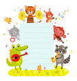 animals orchestra play music background for t vector image