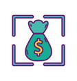 bag money banking strategy digital marketing vector image
