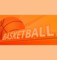 basketball sport concept banner cartoon style vector image vector image