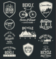 bicycle badges and labels vector image vector image