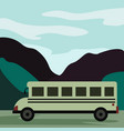 bio bus under art-decor background vector image