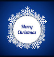 blue merry christmas greeting card vector image vector image