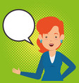 business people with speech bubbles communication vector image