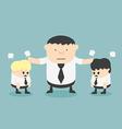 business stop man quarreling vector image vector image