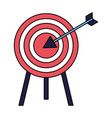 business target arrow strategy vector image