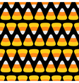 Candy corn line Happy Halloween Seamless Pattern vector image vector image