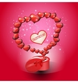 Card Valentines Day on a red background vector image vector image