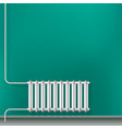 Cast-iron central heating radiator in the