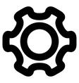 Cog Stroke Icon vector image