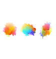 colorful watercolor splatter set with drips vector image vector image