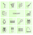 concert icons vector image vector image