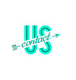contact us banner vector image vector image