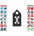 Dead Marker Icon vector image vector image