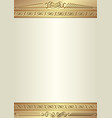 decorative background with golden ornaments vector image vector image