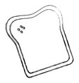 delicious toast bread isolated icon vector image vector image