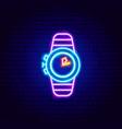 diver watch neon sign vector image vector image