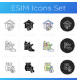 diy project icons set vector image vector image
