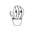 dotted shape kawaii cute funny cactus plant vector image vector image