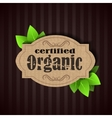 Eco Friendly tag Organic vector image vector image