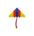 festival kite icon flat style vector image vector image