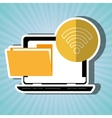 file transfer in social networks isolated icon vector image