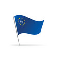 flag of european union with eu label vector image