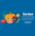garden concept banner isometric style vector image