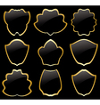 gold and black heraldic frames - set vector image