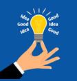 good business idea light bulb concept vector image