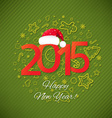 Green New Year Card vector image vector image