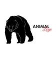 grizzly bear icon logo symbol vector image vector image