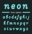 handwritten neon light alphabets vector image vector image